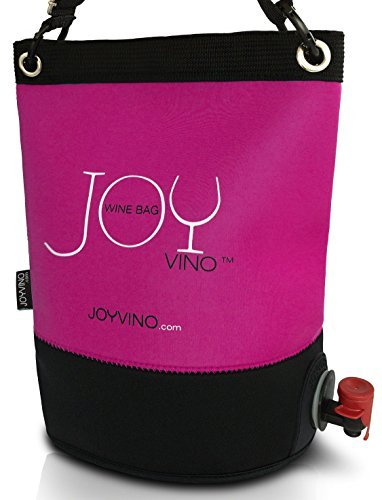 Weintasche und Getränkespender - Weintüte 3L für das Bag-In-Box - Einfach zu Handhabende Inner Tasche - Perfekt Egal ob Drinnen oder Draußen und Für Jedes Getränk: Wein, Sangria und Saft (Rosa)