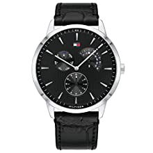 Tommy Hilfiger Mens Multi dial Quartz Watch with Leather Strap 1710391