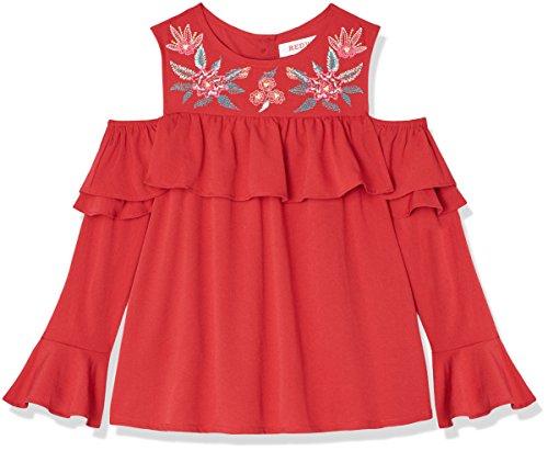 old Shoulder-Bluse mit Stickereien, Rot (Jester Red), 110 (Herstellergröße: 5 Jahre) (Tunika Jester)