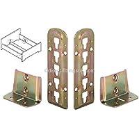 2Par cama ajustable soporte Rail de centro apoyo conector/montaje/accesorios. Endurecido YZP (2) - Muebles de Dormitorio precios