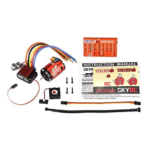 4000KV 8.5T 2P Sensored Brushless Motor + CS60 60A Sensored ESC + LED-Programm-Karte Combo Set für 1/10 1/12 RC Buggy Auto - Karte Combo