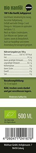 Wohltuer Hanföl kaltgepresst 500ml aus kontrolliert biologischem Anbau (Österreich) - 2