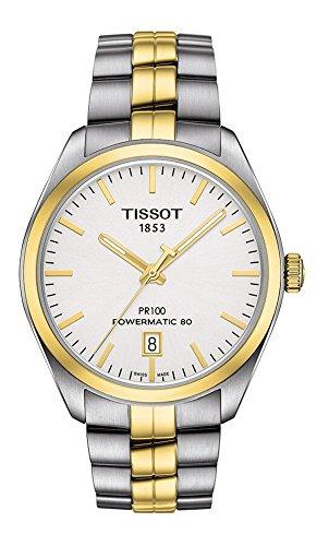 Tissot Herren-Armbanduhr Analog Automatik One Size, silberfarben, Silber/Bicolor