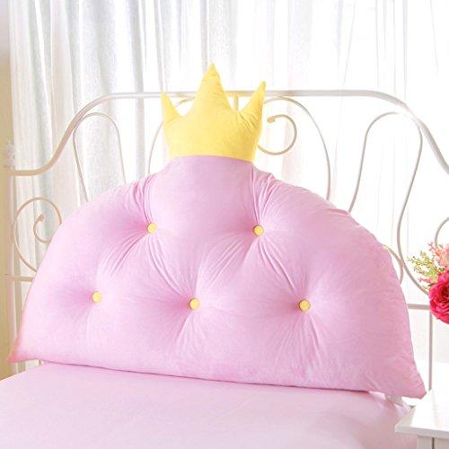 MMM- Coussin de lit de princesse de couronne de lit Coussin de coussin de grand dossier d'enfant (Couleur : Rose, taille : 70*60cm)