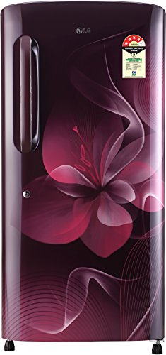 LG 215 L 4 Star Direct Cool Single Door Refrigerator(GL-B221ASDX DSDZEBN,  Scarlet Dazzle,Smart Inverter Compressor)