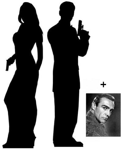 Geheimagent Männlich und weiblich Lebensgrosse Pappaufsteller mit 25cm x 20cm foto