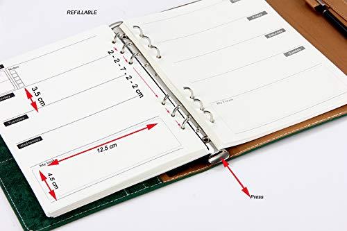 A5 Notizbuch Leder Vintage Mit Stift Kalender 2019 2020 Selbst Gestalten Terminplaner Buch Agenda Wochenplaner