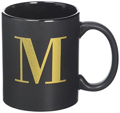 derick schwarz Tasse mit Gold Buchstabe in Box-M, Sortiert ()