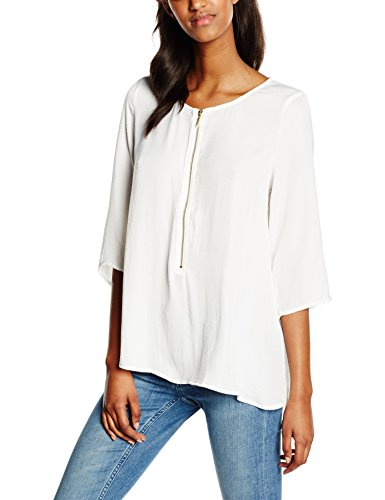 Vila Clothes Damen Langarmshirt Viemels 3/4 Sleeve Top, Weiß (Snow White), 34 (Herstellergröße: XS) (3/4 Top Sleeve White)