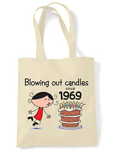 Blowing Out Candles Since 1969 50th Birthday Tote/Shoulder Bag