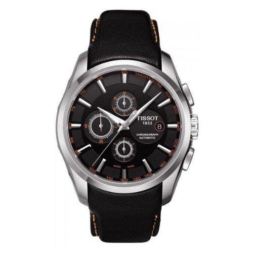 Tissot T0356271605101 - Reloj analógico de caballero automático con correa de piel negr