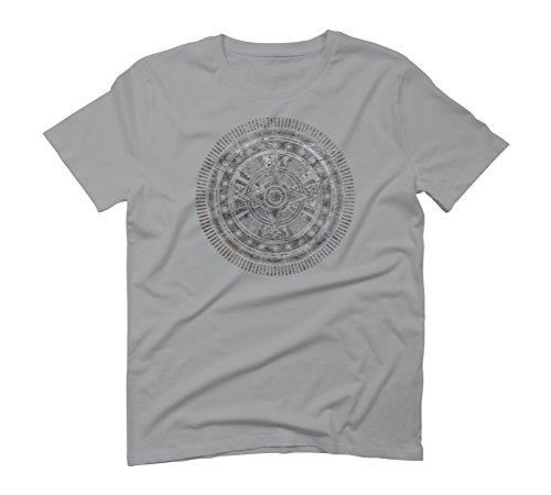 Quasar Crest Men's Graphic T-Shirt - Design By Humans Opal