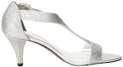 Easy Street Glitz Large Synthétique Talons Silver Glitter