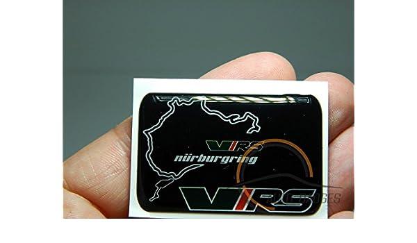SKODA VRS Set di 4 badge autoadesivo 50mm di plastica ad Applicare per coperture del mozzo