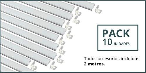 PACK 10 UNIDADES. Perfil Aluminio con forma de