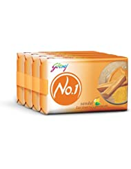 Godrej No.1 Soap, Sandal and Turmeric, 100g (Pack of 3) with Free Soap, 100g
