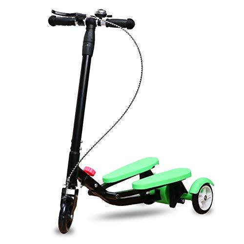 Unbekannt Scooter Nicht elektrischer Roller für Kinder, Verstellbarer T-Bar-Griff, breite Pedal-Roller mit Flash-Rad, Sicherheitsbremse