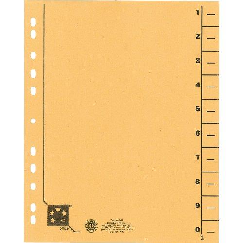 Preisvergleich Produktbild 5 Star 914727 Trennblätter vollfarbig 30x24 cm, RC Karton 230 g/qm Inh.100, gelb