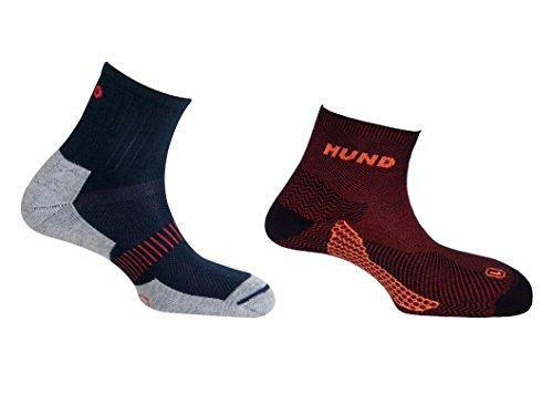 Mund socks, Paquete CAMINO DE SANTIAGO Calcetín KILIMANJARO sin costuras y TREKKING/RUNNING Antiampollas, Antibacterial y Terapéutico (EU 42-45)