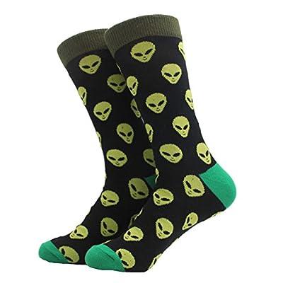 Zooarts® 1 Pair Men's Novelty Socks Crazy Cotton Comfortable Breathable Luxury Crew Socks