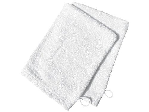 Soleil d'Ocre Lot 2 gants de toilette ANTIQUE Blanc