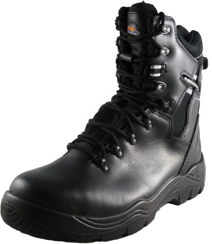 Dickies, FD23375, Stivali di sicurezza foderato Super Safety Quebec S1P BK nero 11 (nero)