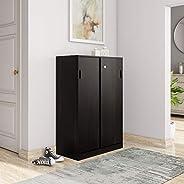 Amazon Brand - Solimo Aquilla Engineered Wood Storage Unit with Sliding Doors (Wenge Finish)