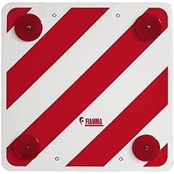 Fiamma Tarjeta de señalización trasera, color rojo y blanco