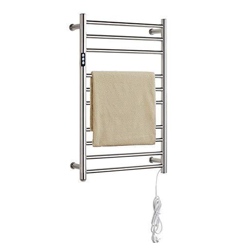Household appliances Elektrisch beheizter Handtuchhalter aus mehrschichtigem Edelstahl, 10 Schicht Timing badheizkörper Handtuchwärmer Badetuch konstanter Temperatur Wäscheständer, sicher wasserdicht