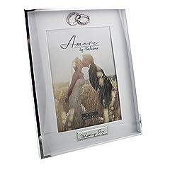 Idea Regalo - Amore Silverplated 'wedding day' portafoto 12,7x 17,8cm