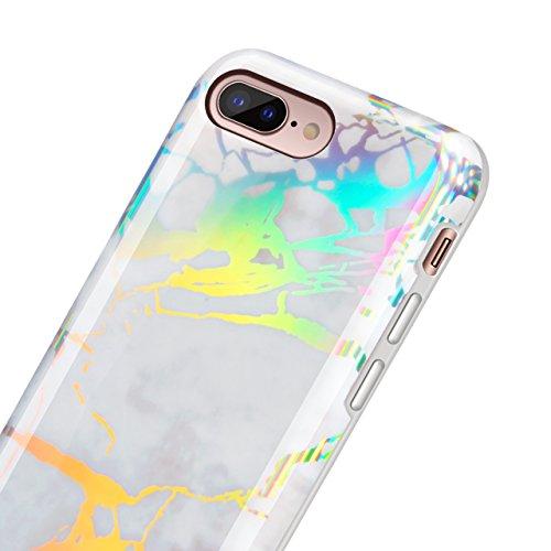 Hülle für iPhone 8 Plus iPhone 7 Plus,Vandot Transparent Luxus Schön Glizter Sparkle Handyhülle für iPhone 8 Plus / 7 Plus (5,5 Zoll) Ultra Dünn Crystal TPU Silikon Schutzhülle Schutz Cover Case Durch Muster 6