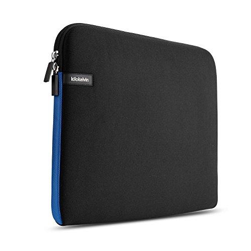 Kilokelvin Housse pour ordinateur portable 15-15.6 pouces Sac de transport pour rembourrage résistant à l'eau pour MacBook Air / MacBook Pro (Retina) ...