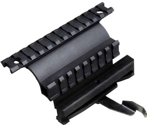 UTG 5TH GEN QUICK DETACHABLE DOUBLE RAIL AK SIDE MOUNT Opiniones RIEL PARA MIRAS TELESCOPICAS DE AIRSOFT  COLOR NEGRO