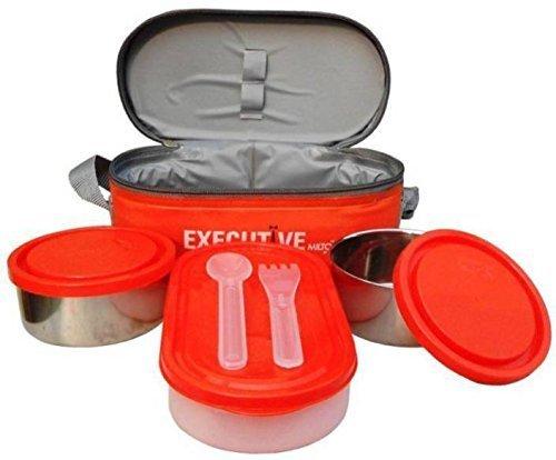Milton Executive Lunch Box Set, 3-Pieces, 260ml, Orange