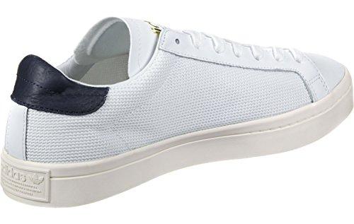 adidas Unisex-Erwachsene Court Vantage Sneakers Weiß (Footwear White/footwear White/collegiate Navy)