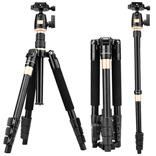 HiXB Reise Professionelles Stativ Leichtes Kompaktes Tragbares Teleskop LäNge 36-140 cm Sicheres TragegefüHl 5kg Kompatibel Mit Canon Nikon Sony Und Anderen KameraausrüStung