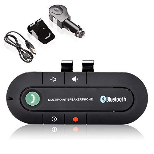 Hengda - Manos Libres para Coche Bluetooth V4.2