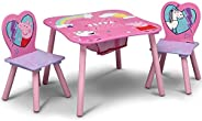 Delta Children Kids Table and Chair Set With Storage (2 Chairs Included) - Ideal for Arts & Crafts, Snack