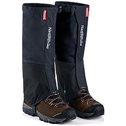 Polainas Naturhike para excursiones por la montaña y por la nieve. Funda impermeable para zapatos, resistente al viento, perfecto para senderismo, esquí, marcha, escalada y caza