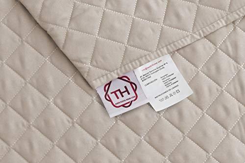 textil-home Salvadivano Trapuntato Copridivano Malu 3 posti Reversibile. Colore Beige