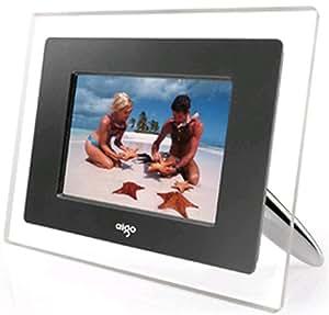 "6.5"" Aigo Digital Photo Frame Clear  - With MP3 Playback & Changeable Bezel"