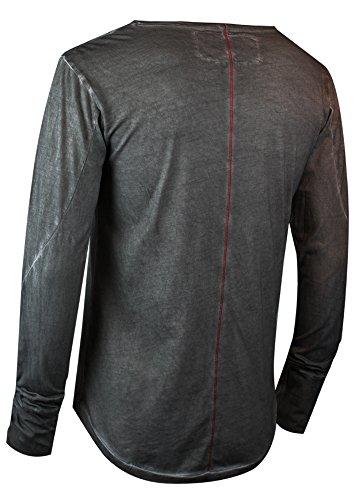trueprodigy Casual Herren Marken Long Sleeve einfarbig Basic, Oberteil cool und stylisch mit Rundhals (Langarm & Slim Fit), Langarmshirt für Männer in Farbe: Anthra 1063105-0403 Anthracite