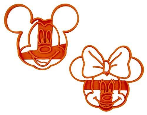Set di 2 Tagliabiscotti formine a forma di personaggi Disney (Topolino e Minnie)