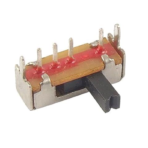 10 Pcs PCB Mount 4 Pin 3 Position SP3T 1P3T Slide Switch Side Knob 0.1A 12V DC