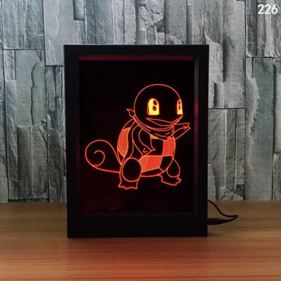 Buntes Neues Acryllicht Des Nachtlichtes 3D Führte Karikatur 3 Der Sensorlicht-Usb-Atmosphäre-Tischlampe (255X190X25Mm) 255 Usb
