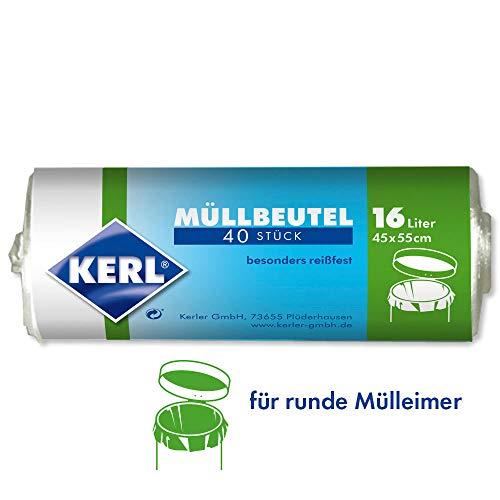 Kerl 4003450030036 - Bolsas de basura 16 L, 40 unidades, 45 x 55 cm, polietileno de alta densidad