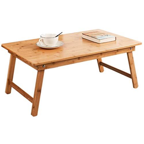 48-FEITENGDAYE Klapptisch Kleiner Tee Tisch Bambus Niedriger Tisch Tisch Klappbett Home Essen Bucht Fenster Tisch Quadratisch