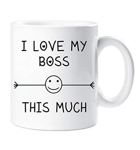 I Love My Boss This Molto Amico Di Tazza Colleghi Ufficio Dipendente Babbo Natale Segreto Regalo Di Compleanno Novità Natale Umorismo Divertent