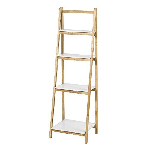 Sobuy® FRG162-N Bibliothèque Étagère pliable style échelle avec 4 niveaux de rangement