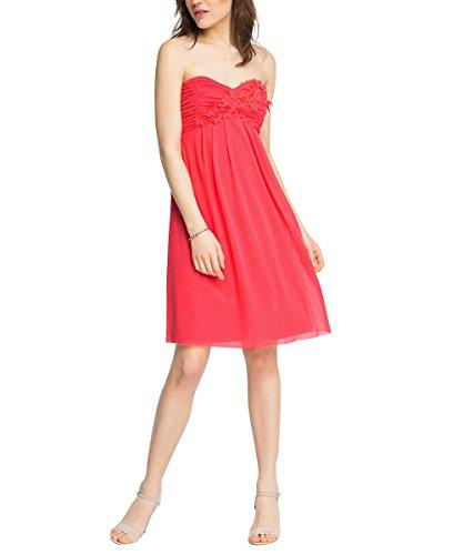 Esprit 036EO1E027 - Robe - Bustier - Uni - Sans manche - Femme Rouge - Rot (CORAL 645)